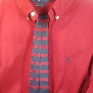 Ralph Lauren Blake Red Shirt + Tommy Hilfiger Tie